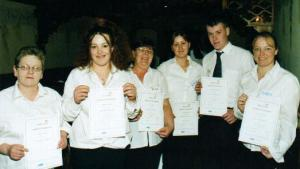Some of the participants with their certificates